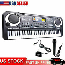 61 Key Music Electronic Keyboard Electric Digital Piano Organ with Microphone Es