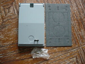 """WEATHERPROOF TL RECEPTACLE COVER W/ LOCK HASP, FOR 30A 1.75"""" DIA VERTICAL 3-4 WI"""