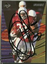 2000 Edge MICHAEL PITTMAN Signed Card Lambeau Field CARDINALS FRESNO STATE