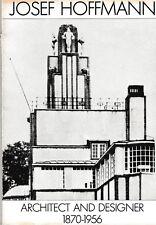 Josef Hoffmann Architect & Designer 1870 - 1956 Wiener Werkstatte Secession RARE