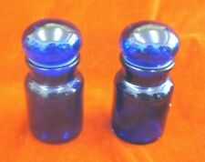 More details for vintage cobalt blue glass apothecary/pharmacy bottles/containers made in belgium