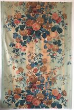 Beautiful 19th C. French Printed Floral Cotton Chintz Fabric (2759)