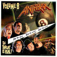 Anthrax Volume 8 Original Large Promo Sticker The Threat Is Real! 1998 Scott Ian