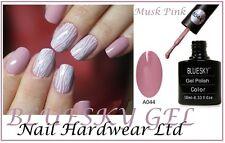 Bluesky A44 A044 MUSK PINK MAUVE DUSTY ROSE TAUPE UV Soak Off Gel  Nail Polish