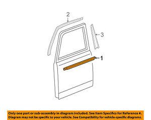 Front Door Window Sweep-Belt Molding Weatherstrip Right 6816052040