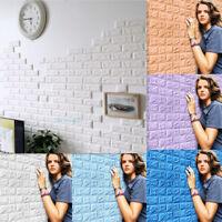 3D PE Foam DIY Brick Stone Embossed Wall Paper Wall Sticker Wall Decor 60X30cm !