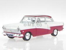 Ford Taunus 17M P2 1957 dunkelrot weiss Modellauto WB190 Whitebox 1:43