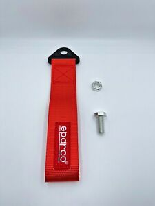 Sparco tow strap Red high density nylon FIA racing approved tow strap