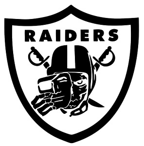 """Raiders Faceless NFL Decal """"Sticker"""" for Car or Truck or Laptop"""