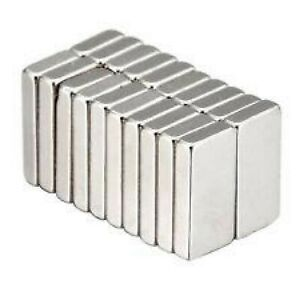 Super Strong 20mm*10mm*3mm Rare Earth Neodymium Block Magnets - Excellent Value!