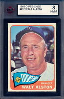 1965 TOPPS OPC O PEE CHEE BASEBALL #217 Walt Alston MG KSA 8 NM-MINT L A DODGERS