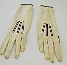 Beautiful Vintage 1920's White Kid Gloves Trefousse & Co. Tt4