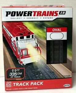 Power Trains 2.0 Oval Track Pack (20 pieces) by Jakks (2018) NEW