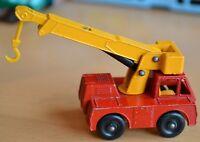Vintage Lesney Matchbox No 42 Iron Fairy Crane Truck - Near Mint
