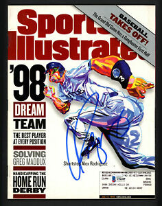 Alex Rodriguez Autographed Sports Illustrated Magazine Mariners Beckett S76289