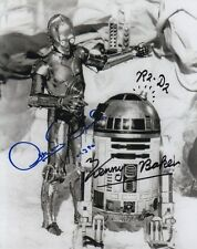 STAR WARS R2-D2 C-3PO KENNY BAKER SIGNED 10x8 INCH LAB PRINTED PHOTO