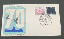 Japan to Denmark-1960-70th Anniv of Institution of Diet FDC