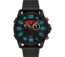 Diesel DZT2010 Full Guard 2.5 Touchscreen Black Silicon Strap Mens Smartwatch