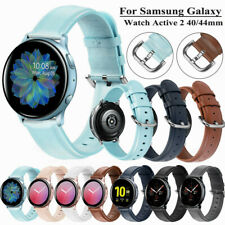 For Samsung Galaxy Watch Active 2/42mm/Gear S2 Genuine Leather Wrist Band Strap