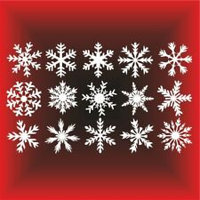SET Weihnachten Fensteraufkleber Schneeflocken Eiskristalle Silvester Aufkleber