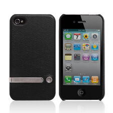 Jisoncase Latest Handcraft Multifunction Black Case Cover For Apple iPhone 4/4S