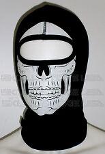 SKELETON Skull Balaclava Ghost SKI MASK FULL FACE NINJA HOOD SWAT HELMET LINER