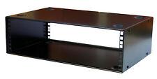 """3U  RACK CABINET 19"""" 200mm STACKABLE METAL DESKTOP Front Rear Fxg Audio Studio"""