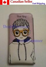 Happymori Little Boy Sunglasses Leather Case Skin For Apple iPhone 4G 4S