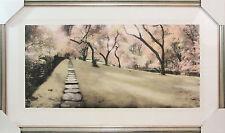 Custom Framed Art - Rock Walk Dumbarton Oaks - Scenery - Landscape - Signed