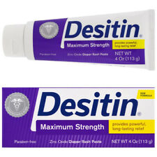 Desitin Maximum Strength Diaper Rash Ointment 4 oz Cream Zinc Nappy Paste (113g)