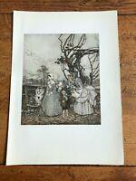 1917 arthur rackham print ( rip van winkle ) ref 1