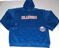 New York Islanders Youth Hoodie Therma Base Full Zip Delay Blue Majestic NHL