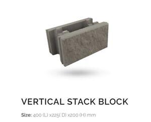 Vertical stack split face blocks SALE