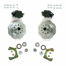 "Mustang II 2 Front Disc Brake Kit with 11"" Plain Ford Rotors No Spindles"