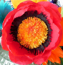 "X Large Crepe Paper Flower Red 13"" Diameter"