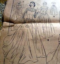 RARE VTG 1950s WEDDING or EVENING DRESS Sewing Pattern 14/32