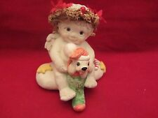 Dreamsicles - Angel Cherub with Christmas Puppy Signed Kristin 94 (1015)