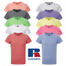 RUSSELL T-SHIRT TOP SLIM FIT TEE TOP QUALITY CASUAL FASHION SIZES KIDS TEEN BOYS
