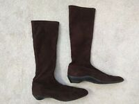 Stuart Weitzman Women's Knee-high Brown Suede Boots SIZE 6.5N NARROW