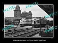 OLD 8x6 HISTORIC PHOTO OF BIRMINGHAM ALABAMA VIEW OF THE RAILROAD DEPOT c1950