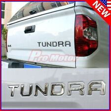 Chrome Trunk Tailgate Letter Insert 3D Metal Sticker For Toyota Tundra 2014-2018