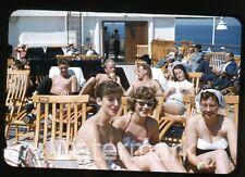 1950s  Photo slide Swedish Ship MS Gripsholm Ladies bathing suits swimsuit #6
