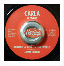 """45Re✦ JIMMY DELPHS✦ """"Dancing a Hole In The World / (Instr.)"""" Rare 60s Northern♫"""