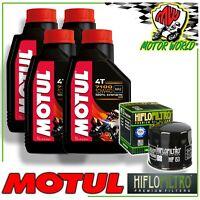 Oil Replacemenet Kit MOTUL 7100 10W40 + Oil Filter Ducati 1099 Streetfighter/S