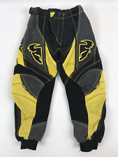 Thor Racing Phase Motocross Riding Pants Size Youth 18 THOR MX Yellow Black 1210
