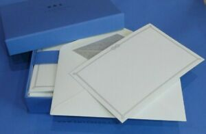 Smythson Note Cards Notelets  SILVER KNOT Set 10 Embossed Tissue Lined Envelopes