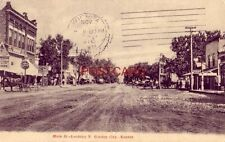 1910 MAIN ST. LOOKING N.  GARDEN CITY, KS. Dunn's Dry Goods Griggs Confectionary