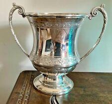 More details for vintage large silver plated trophy cup / vase / champagne / wine bottle
