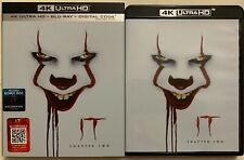 IT CHAPTER 2 4K ULTRA HD BLU RAY 3 DISC SET + SLIPCOVER SLEEVE FREE SHIPPING BUY