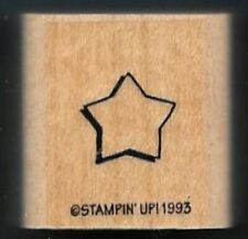STAR STENCIL Night Sky Space Cookie Cutter Stampin' Up! Patriotic RUBBER STAMP
